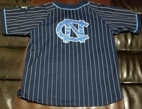 NORTH CAROLINA UNC Tar Heels VINTAGE STARTER BASEBALL JERSEY Men's LARGE L