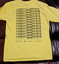 twenty one pilots Trench T-Shirt Men's Medium Yellow Long Sleeve