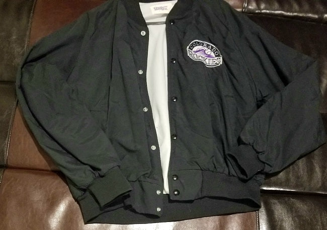 COLORADO ROCKIES CHALK LINE VINTAGE JACKET Men's LARGE L