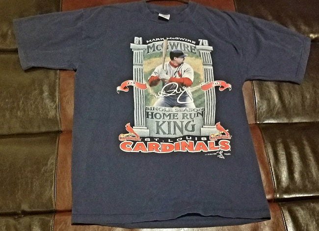 MARK McWIRE HOME RUN KING VINTAGE T-Shirt Men's X-LARGE XL