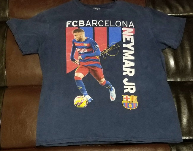 NEYMAR JR FCB FC BARCELONA T-Shirt Men's LARGE L