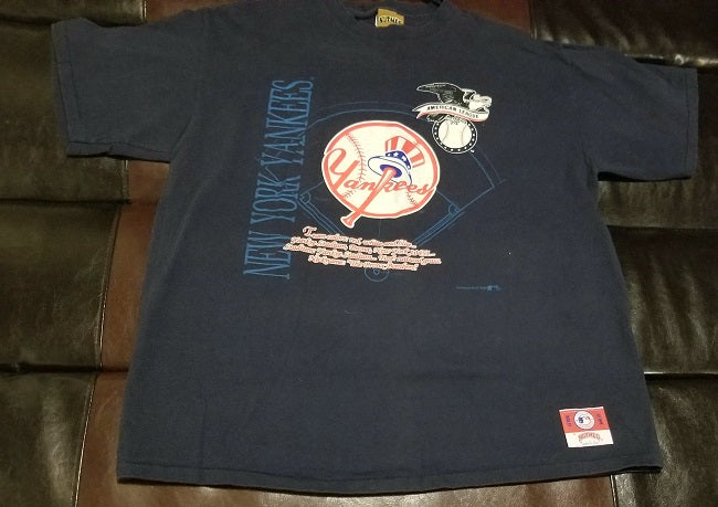 NEW YORK YANKEES '90s NUTMEG VINTAGE T-Shirt Men's X-LARGE XL
