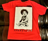 The Notorious BIG Ready to Die / Red T-Shirt Men's Large