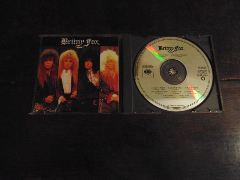 Britny Fox CD, Self-titled, S/T, Same, Long Way to Love, Original Pressing