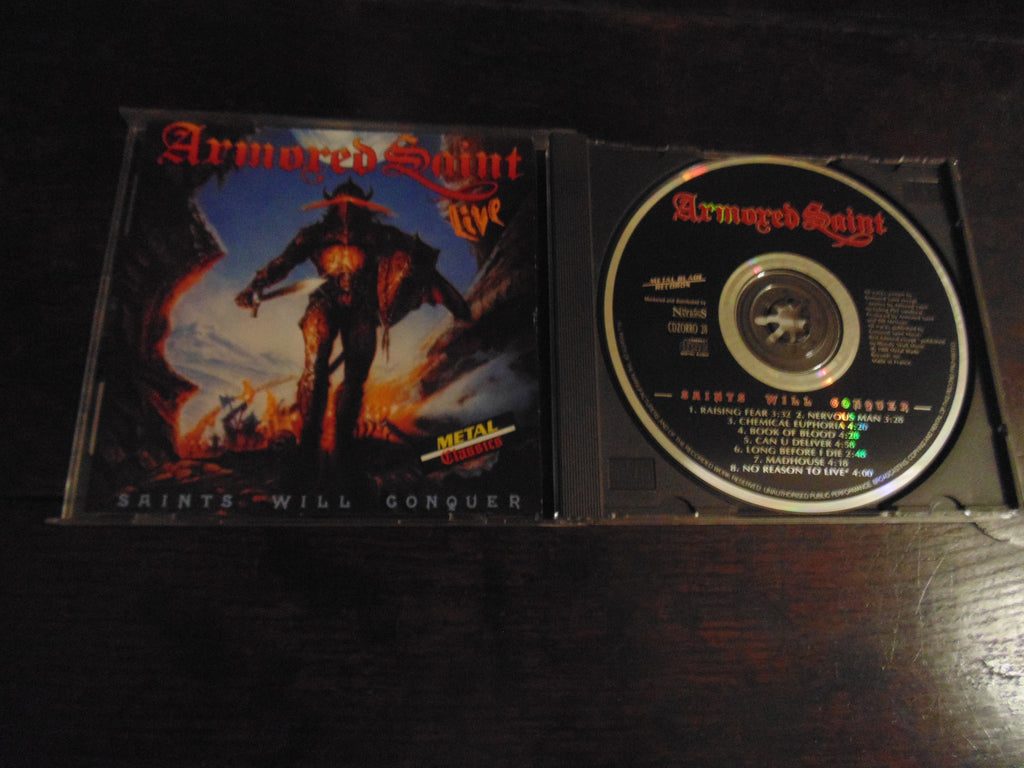 Armored Saint CD, Saints Will Conquer, Live, Metal Blade/Music for Nations, Rare Pressing, Import