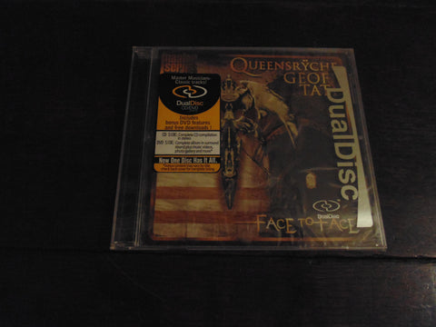 Queensryche CD, Geoff Tate, Face to Face, Dual Disc, CD/DVD, NEW