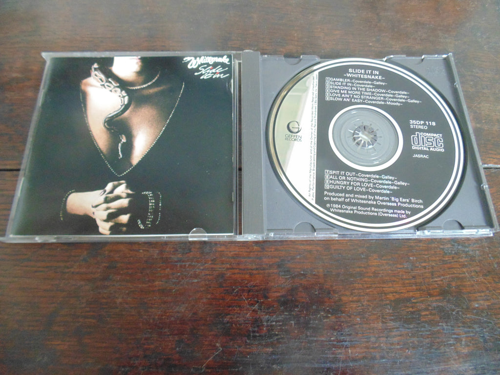 Whitesnake CD, Slide it in, Japanese Import, 1st pressing, 35DP 118, Blue Murder, Deep Purple