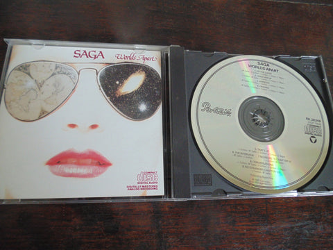 Saga CD, World's Apart, Rare Portrait Records Pressing