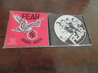 Fear CD, More Beer, RARE Restless Records Pressing