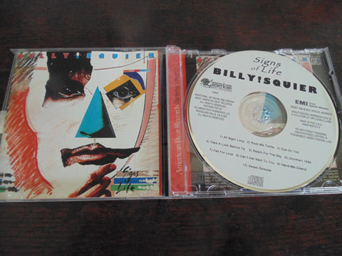 Billy Squier CD, Signs of Live, Rock Me Tonite, Brian May, Queen, American Beat Records