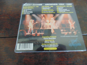 Sweet Savage CD, Archives 1984-1989, EP, Live, Joey C Jones, Dana Strum, MINT