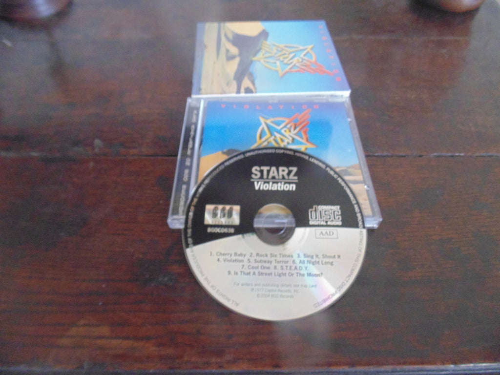 Starz CD, Violation, 2004 Remastered, Slipcase, BGO Records, MINT