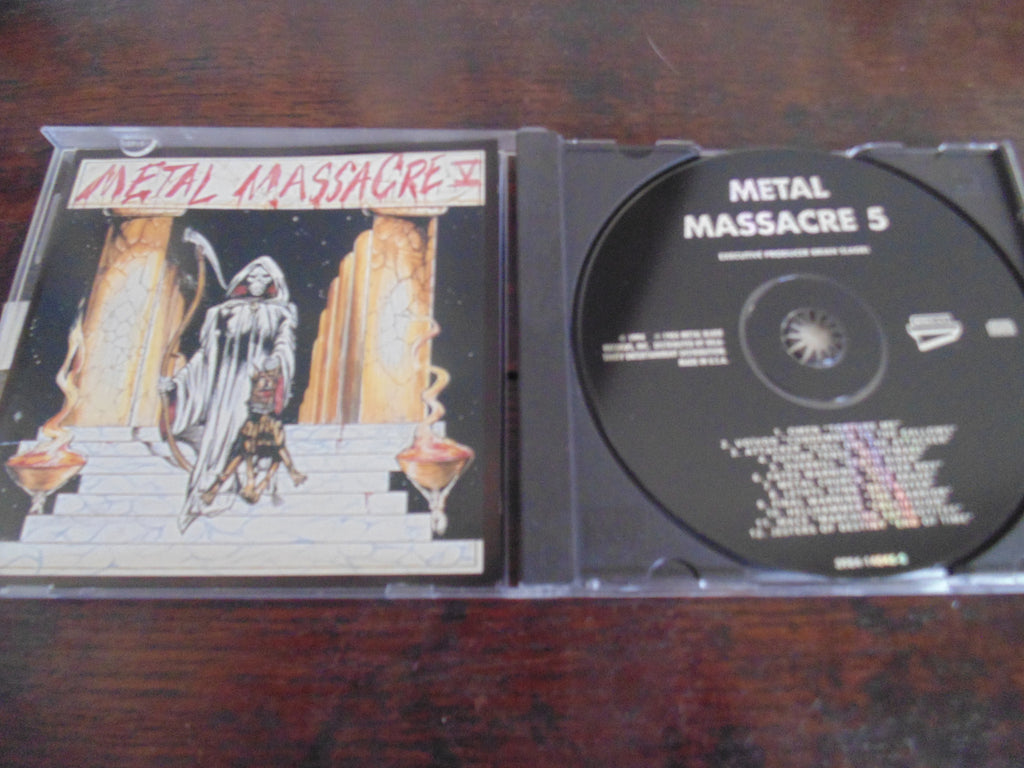 Metal Massacre CD, V, Five, 5, Omen, Voivod, Overkill, Metal Church, Hellhammer