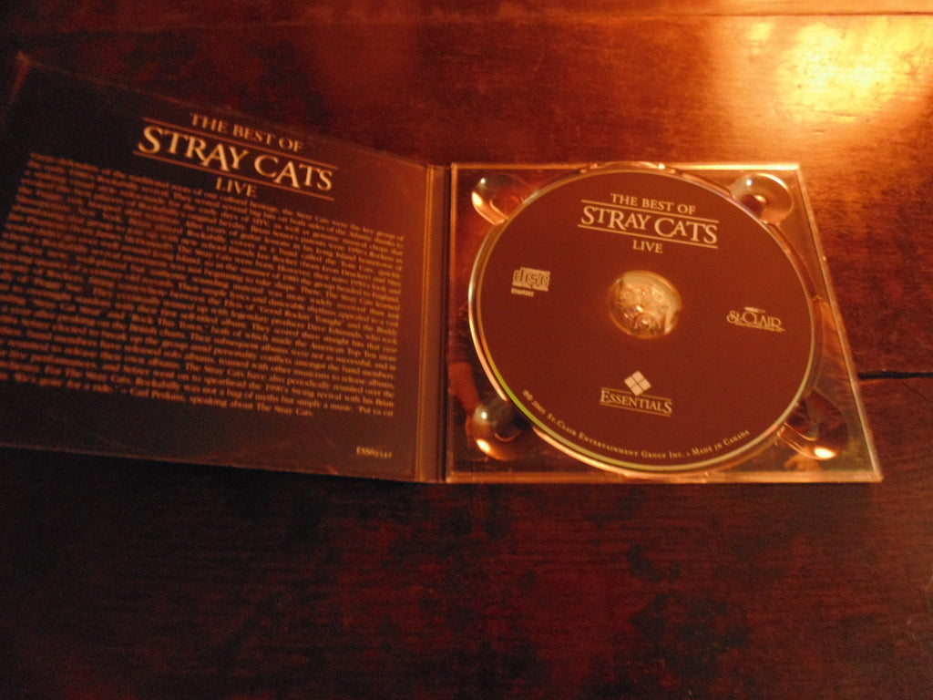 Stray Cats CD, The Best of Live, Greatest Live, Brian Setzer, Lee Rocker, Remastered