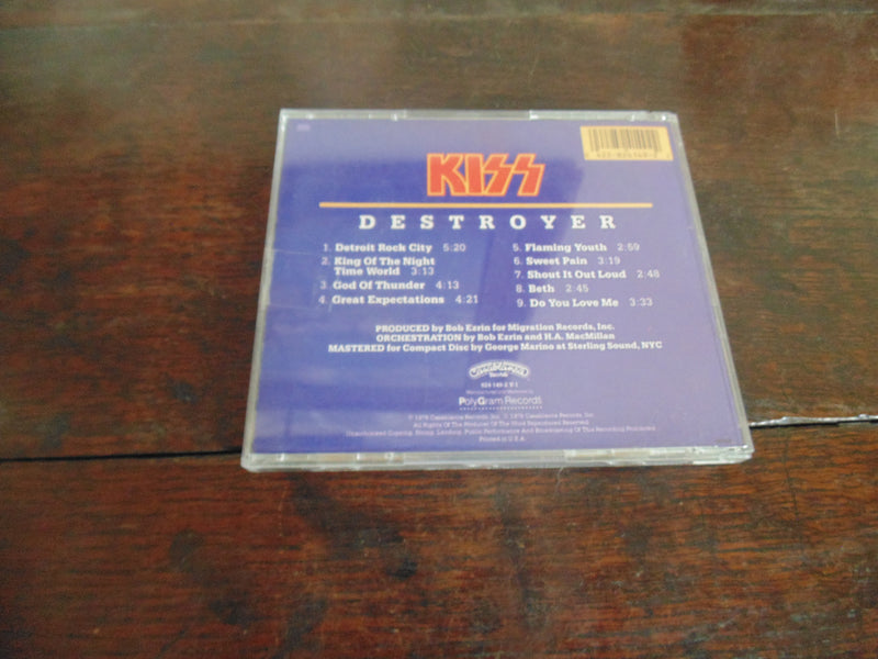 KISS CD, Destroyer, Early Pressing, Detroit Rock City, God of Thunder