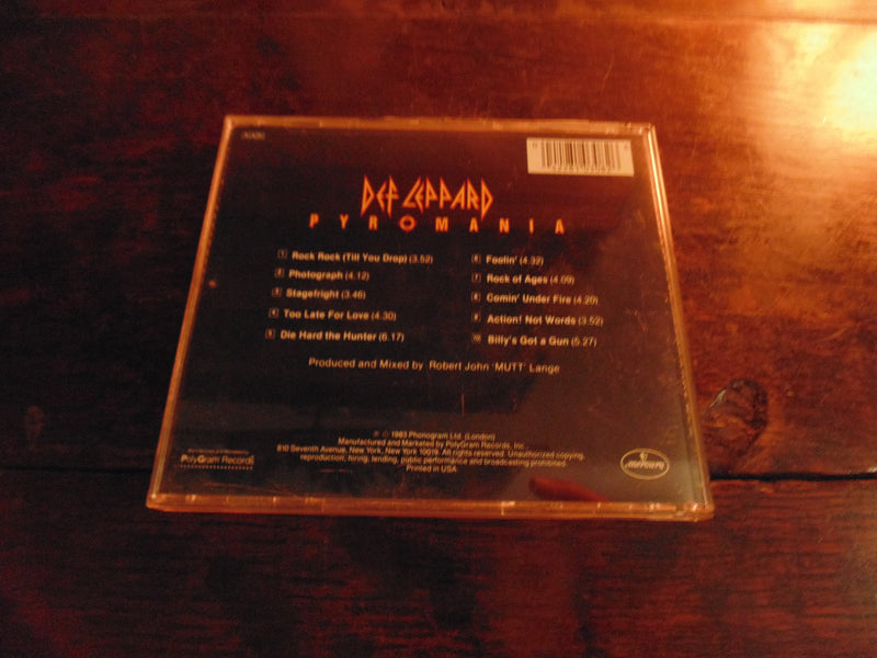 Def Leppard CD, Pyromania, 1987 Pressing, 810 308-2
