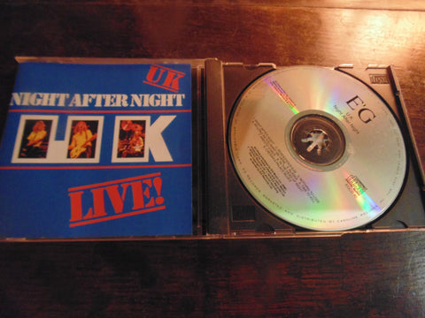 UK CD, Live, Night After Night, Frank Zappa, Roxy Music, King Crimson, Missing Persons, 1st Pressing