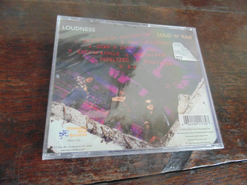 Loudness CD, Loud n Raw, NEW, Wounded Bird