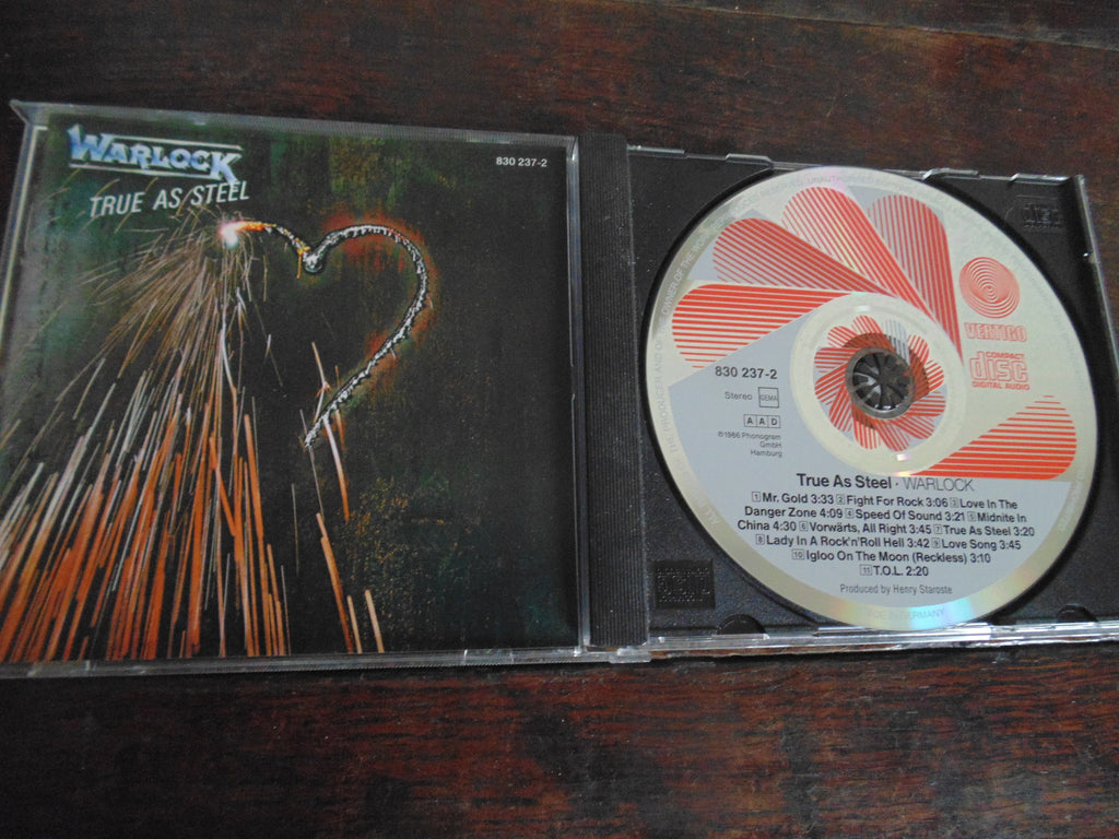 Warlock CD,  True as Steel, Doro Pesch, German Import