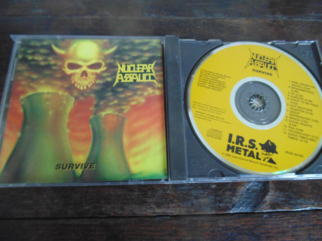 Nuclear Assault CD, Survive, Combat / I.R.S., IRSD-42195, Yellow Face