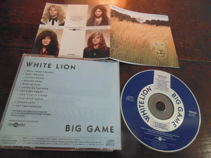 White Lion CD, Big Game, Japanese Import, Original Victor, VICP-2050