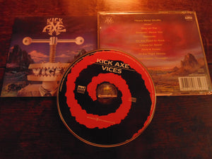 Kick Axe CD, Vices, MNF Records Pressing. UPC# 7898104 662933