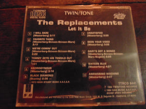 The Replacements CD, Let it be, 1st cd pressing, Guns n Roses