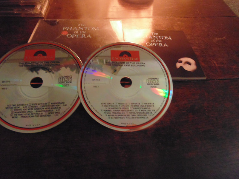 The Phantom of the Opera CD, 2 CD-Set, Original Cast, Old School, Fatbox
