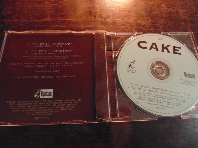 Cake CD, I Will Survive, CD Single
