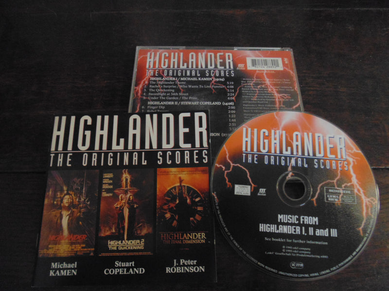 Highlander CD, The Original Score, I, II, III - The Final Dimension, Import