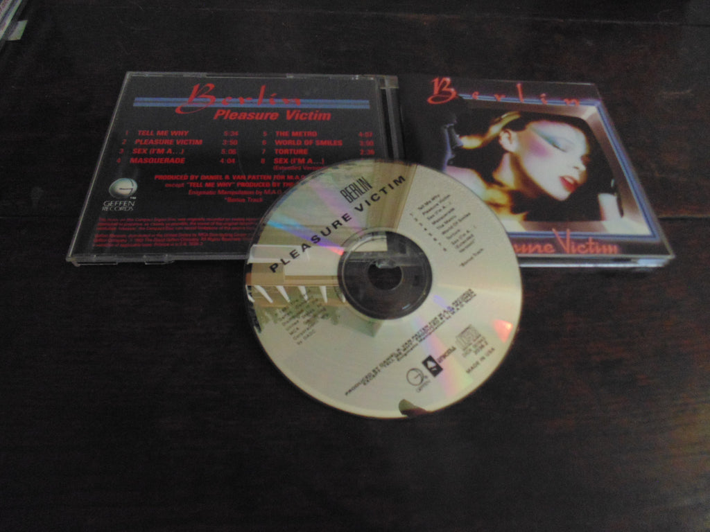 Berlin CD, Pleasure Victim, Original Geffen / Enigma, 1st Pressing