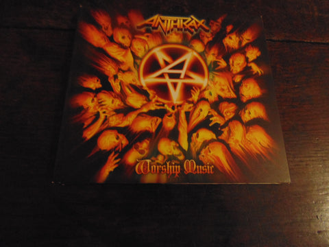 Anthrax CD, Worship Music, digi-case gatefold