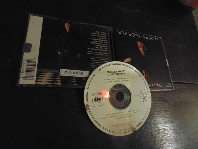 Gregory Abbott CD, I'll Prove it to You, MINT
