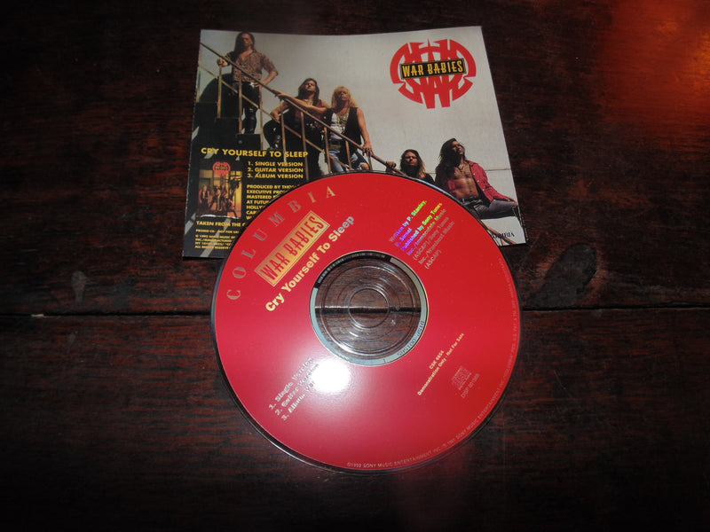 War Babies CD, Cry Yourself to Sleep, CD Single, TKO, Brad Sinsel, KISS, Paul Stanley
