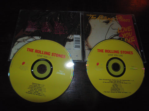 The Rolling Stones CD, 2 CD, Love You Live, Virgin Records