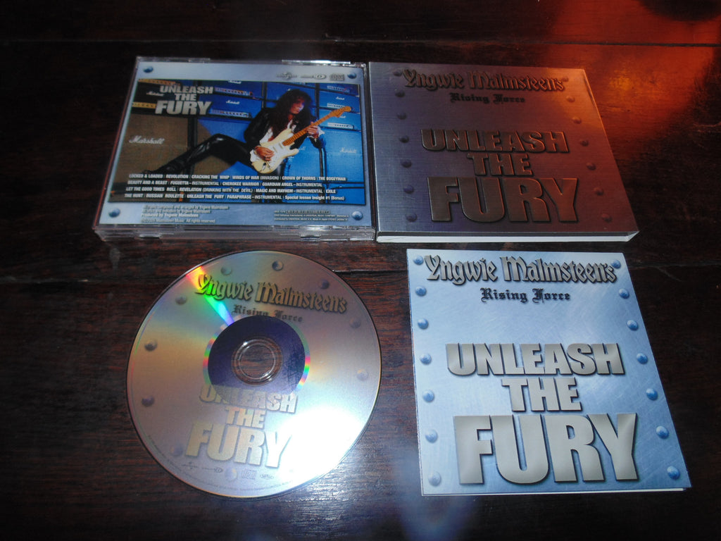 Yngwie Malmsteen CD, Unleash the Fury, Slip case, Japan