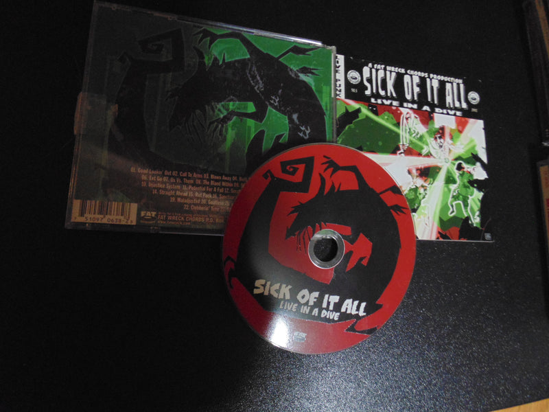 SICK OF IT ALL CD, Live in a Dive, Punk, Fibits: CD, LP & Cassette Store