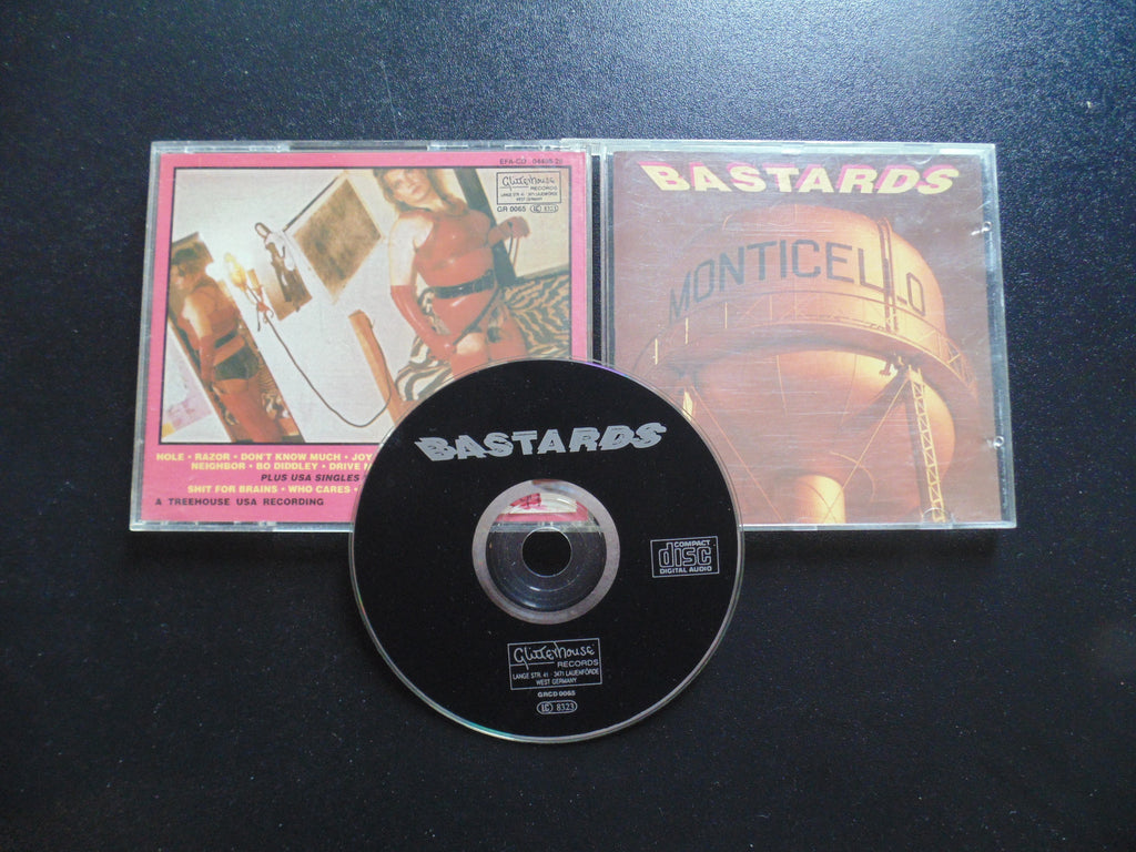 Bastards CD, Monticello, Import, Joe Breuer, Gnomes Of Zurich, Fibits: CD, LP & Cassette Store