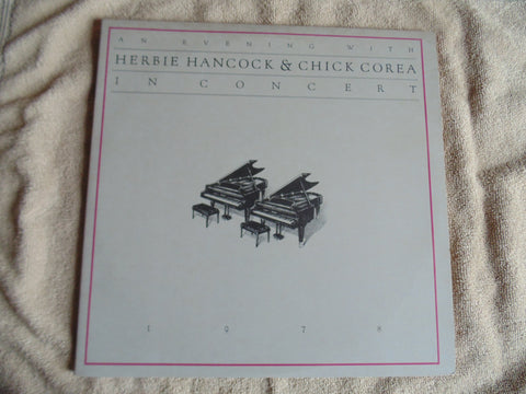 Herbie Hancock & Chick Corea 2 LP, An Evening with, in Concert, Fibits: LP, CD, Video & Cassette Store