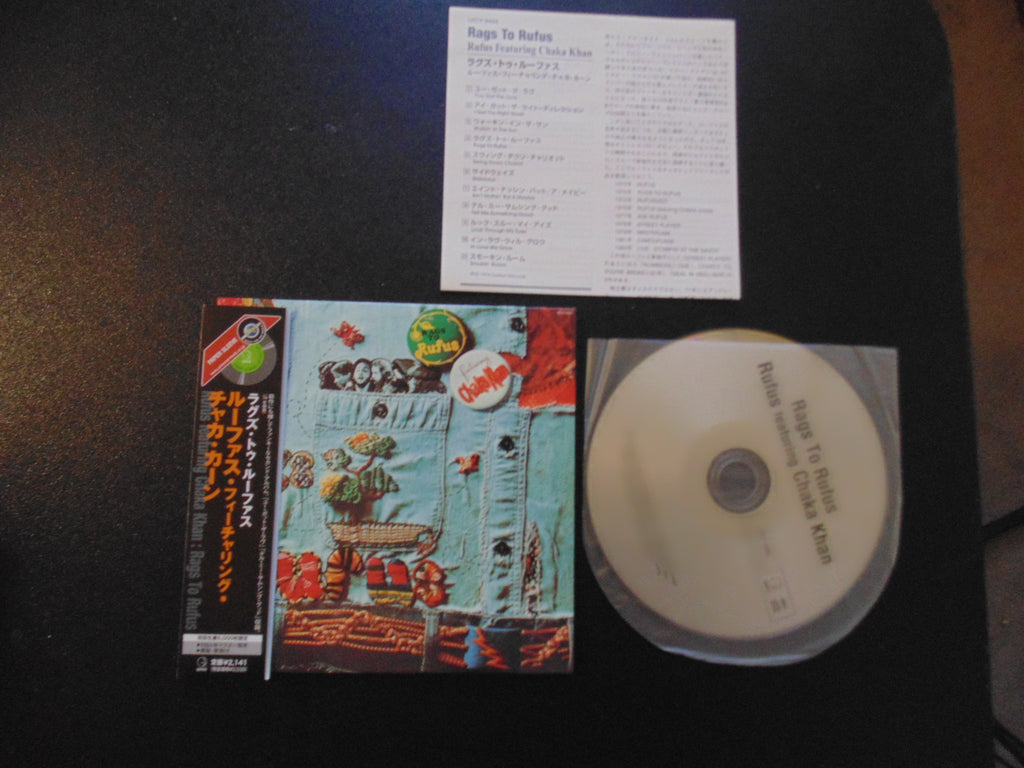 Rufus CD, Rags to Rufus, Japan Import w/ OBI, Mini-LP, Chaka Khan
