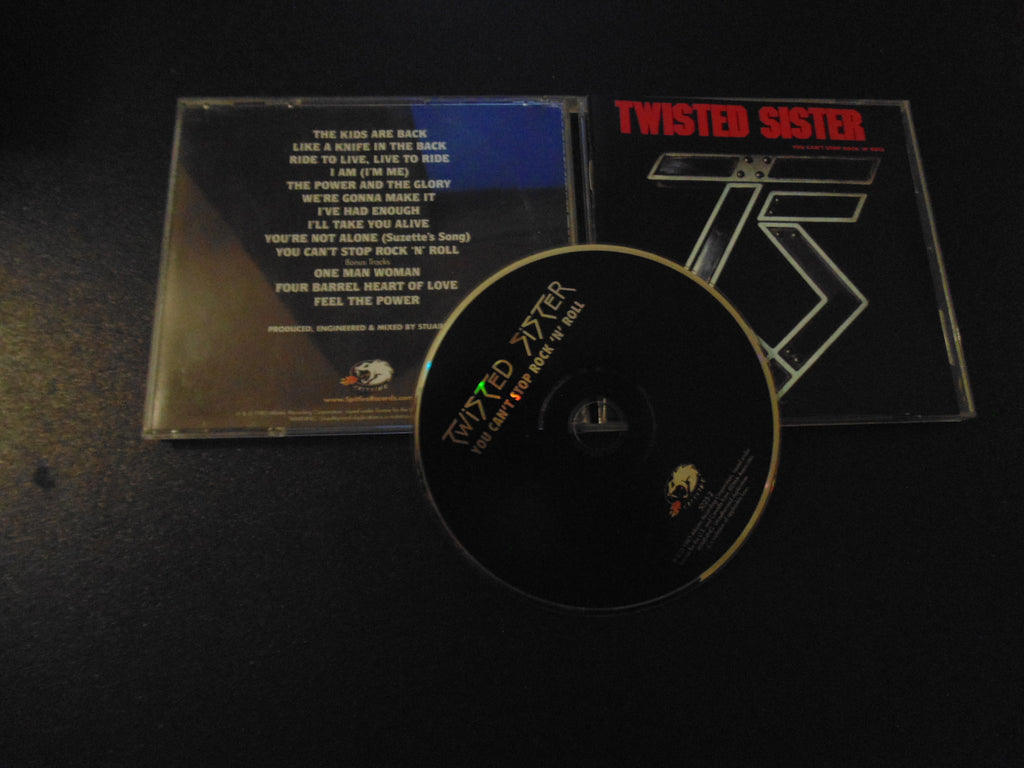 Twisted Sister CD, You Can't Stop Rock n Roll, Dee Snider, Bonus Tracks