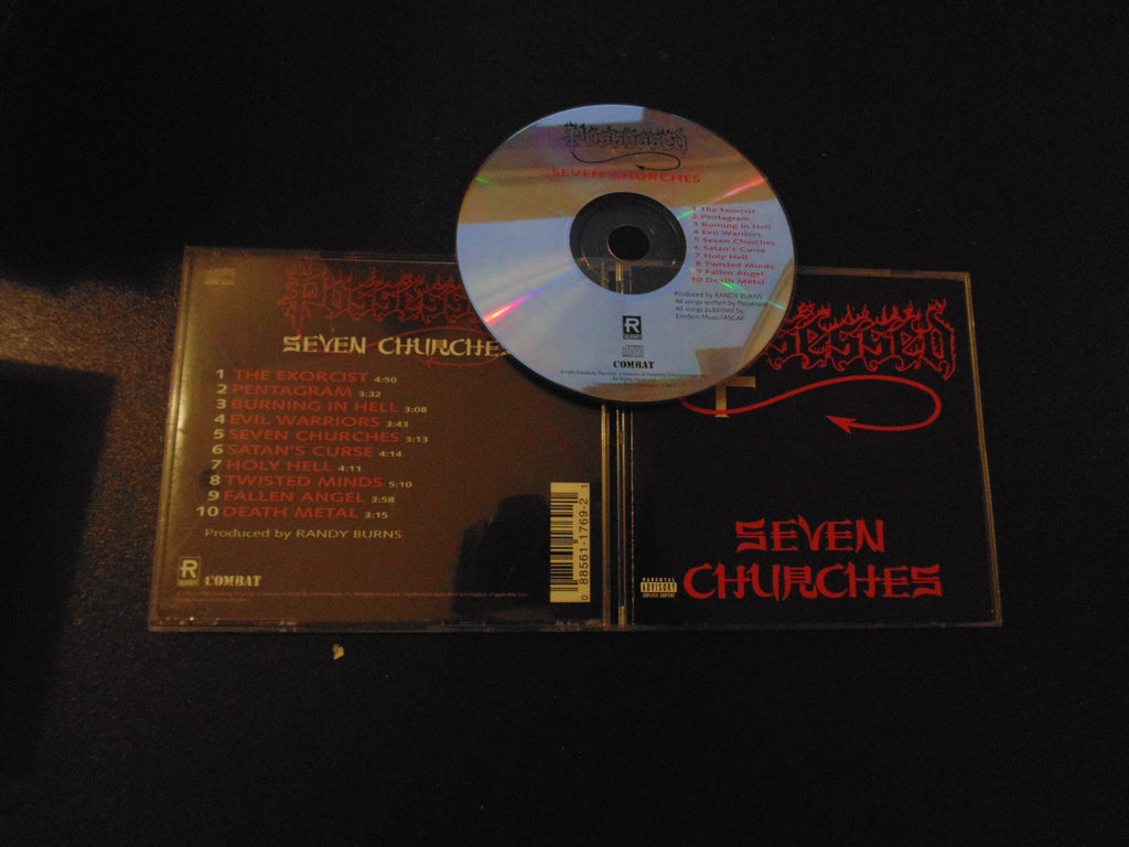 Possessed CD, Seven Churches, Remastered, 1999, Relativity/Combat, UPC 088561176952