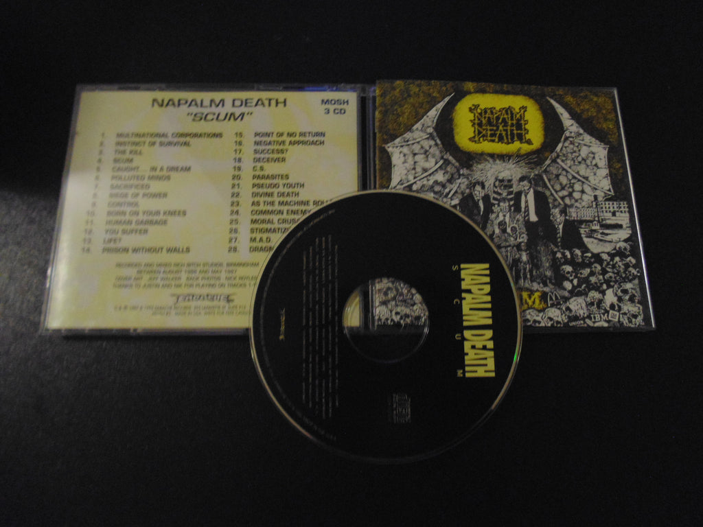 Napalm Death CD, Scum, 1995 Pressing, UPC 745316000329