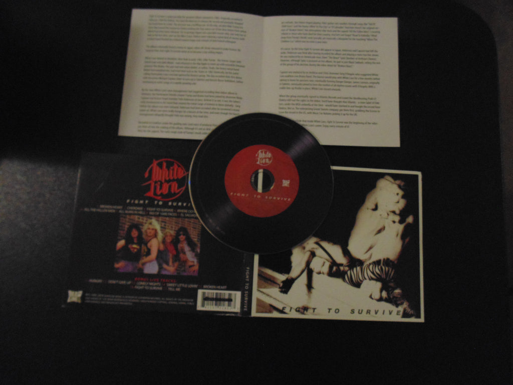 White Lion CD, Fight to Survive, Digi, 7 Bonus Tracks