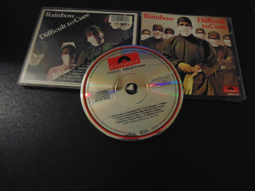 Rainbow CD, Difficult to Cure, Germany, Import, Joe Lynn Turner, Blackmore, Deep Purple