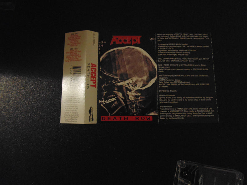 Accept, Cassette, Death Row, Udo, U.D.O.