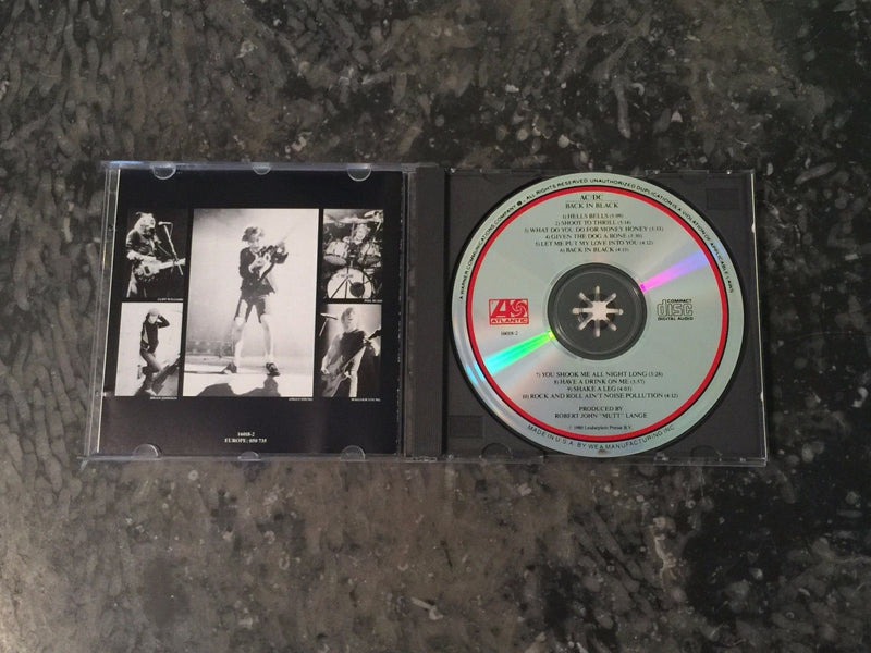 AC/DC CD, Back in Black, Original Pressing