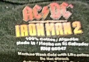 AC/DC Shoot to Thrill Iron Man 2 T-Shirt Men's XL