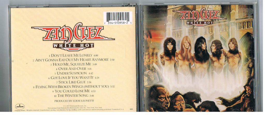 Angel CD, White Hot, Giuffria, House of Lords, Mercury Pressing