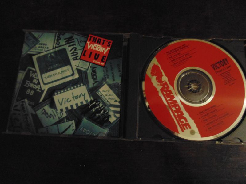 Victory CD, That's Live, 1988 Rampage Records, Accept